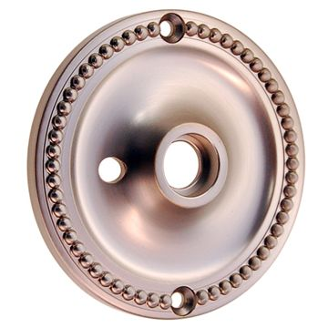 Restorers Classic 3 1/4 Inch Privacy Beaded Door Knob Rosette