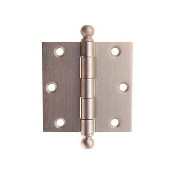 Restorers Classic 3 Inch Ball Tip Removeable Pin Hinges   Pair
