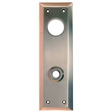 Restorers Classic 8 Inch Plain Backplate Only for Deadbolt