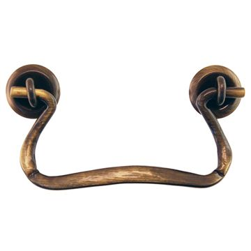 Restorers Classic Antique Brass Simple Bail Pull