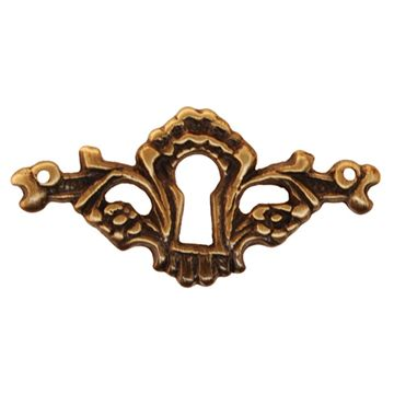 Restorers Classic Cast Brass Victorian Keyhole Escutcheon