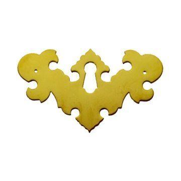 Restorers Classic Chippendale 3 1/2 Inch Keyhole Escutcheon