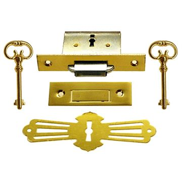 Restorers Classic Complete Furniture Lock with Keyhole Escutcheon