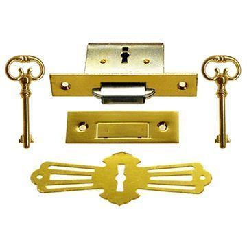 Restorers Classic Complete Furniture Lock with Keyhole Escutcheon