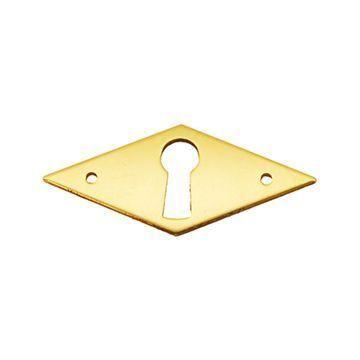 Restorers Classic Diamond Solid Brass Keyhole Escutcheon