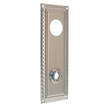 Restorers Classic Egg and Dart Backplate Only for Deadbolt