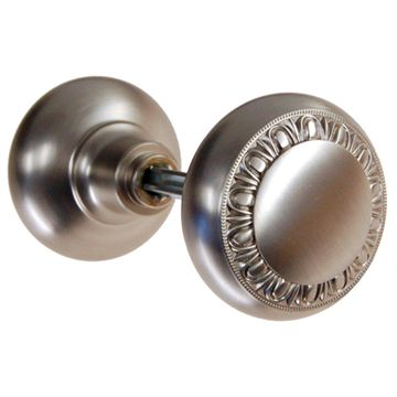 Restorers Classic Egg and Dart Solid Brass Door Knobs