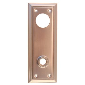 Restorers Classic Indented Line Backplate Only For Deadbolt