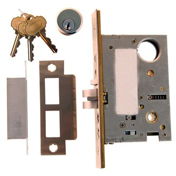 Restorers Classic Knob To Knob Entry Mortise Door Lock - 2 3/4 Inch