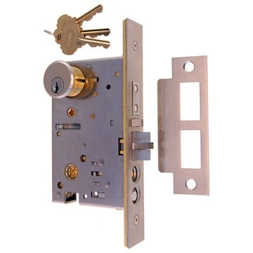 Restorers Classic Knob To Knob Entry Mortise Door Lock - No Egress - 2 1/2 Inch Backset