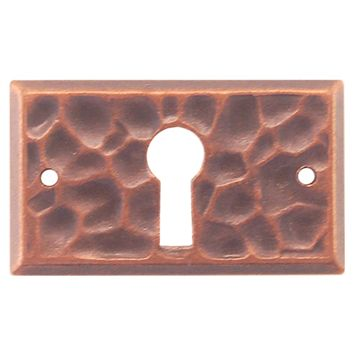 Restorers Classic Mission Hammered Keyhole Escutcheon