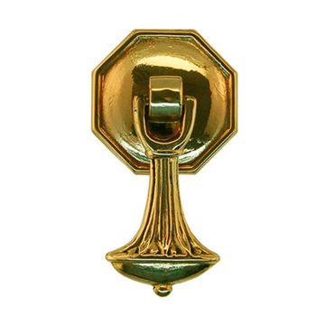 Restorers Classic Octagon Backplate with Teardrop Pendant Drop Pull