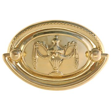 Restorers Classic Period Oval Bail Pull With Urn Motif