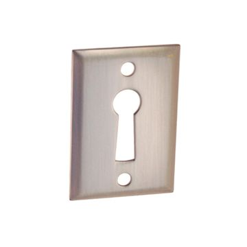 Restorers Classic Rectangular Door Keyhole Escutcheon