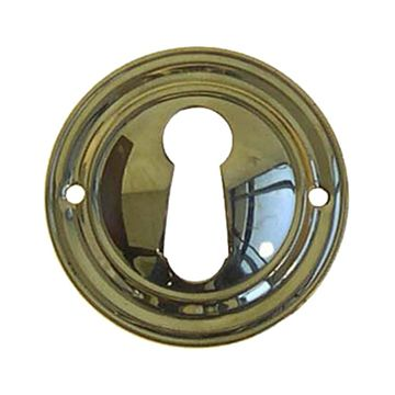 Restorers Classic Round Stamped Keyhole Escutcheon