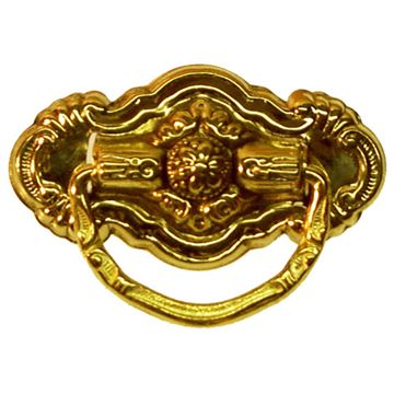 Restorers Classic Single Post Ornate Ring Pull