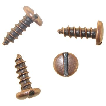 Restorers Classic Slotted Pan Head Screws - Pack of 20