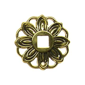 Restorers Classic Small Floral Backplate For Pendant Drop Pull