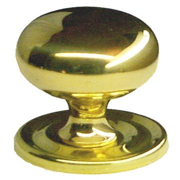 Restorers Classic Solid Brass Knob With Backplate