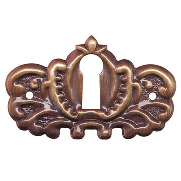 Restorers Classic Stamped Victorian Keyhole Escutcheon