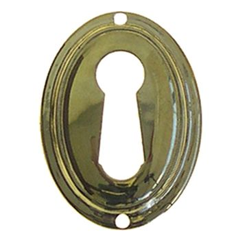 Restorers Classic Tall Oval Stamped Keyhole Escutcheon