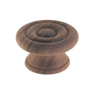 Restorers Classic Walnut Knob With Rings