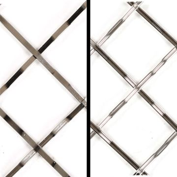 Klise Reversible Double Crimp 1 1/4 Inch Stainless Steel Wire Mesh Grille