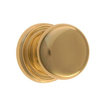 Restorers Classic Passage Ringed 2 3/4 Inch Forged Door Set With Plain Hollow Brass Knobs