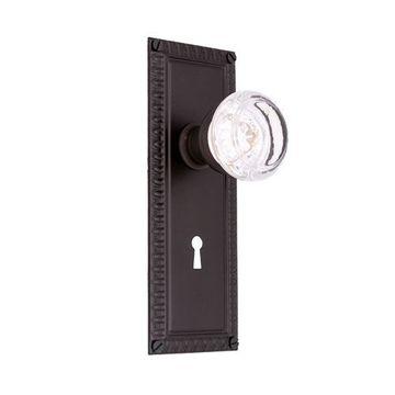Restorers Classic Egg & Dart Interior Mortise Lock Set - Round Glass