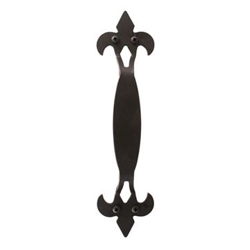 Quiet Glide 11 Inch Fleur-De-Lis Door Handle