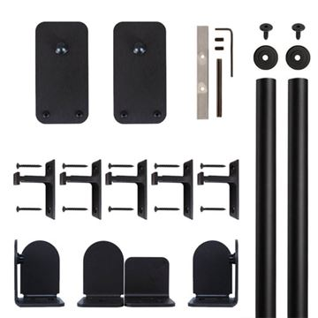 Quiet Glide Basic Rectangle Rolling Door Hardware Kit