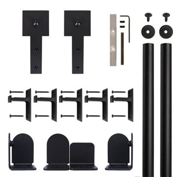 Quiet Glide Cube Stick Rolling Door Hardware Kit