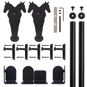 Quiet Glide Double Horse Rolling Door Hardware Kit