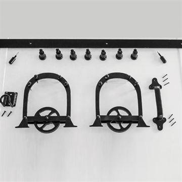Quiet Glide Heavy Duty Horseshoe Rolling Door Hardware Kit - 8 Foot