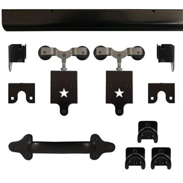 Harvard Products Heavy Duty Star Rolling Door Hardware Kit - 8 Foot