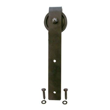 Quiet Glide Hook Strap Roller For Flat Track Rail - 3 Inch Wheel