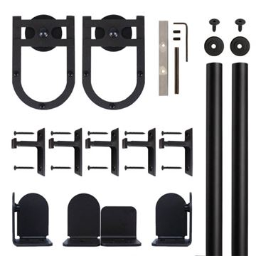 Quiet Glide Horseshoe Rolling Door Hardware Kit