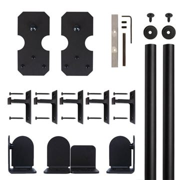 Quiet Glide Notched Rectangle Rolling Door Hardware Kit
