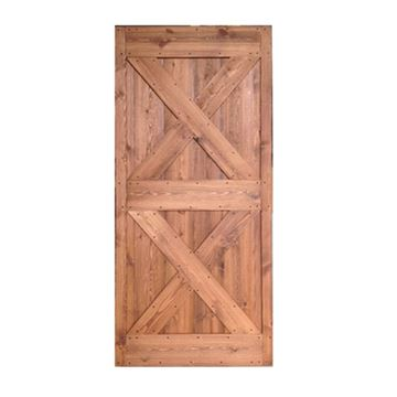 Quiet Glide Ready to Assemble Pine Barn Door - 40 x 81 Inch