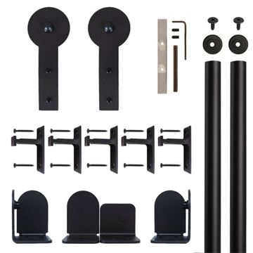 Quiet Glide Round Stick Rolling Door Hardware Kit