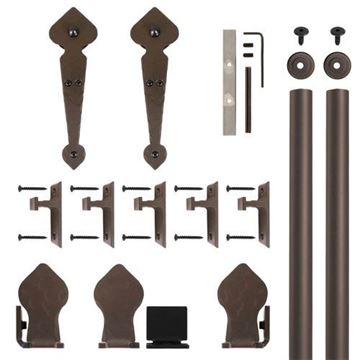 Quiet Glide Spade Rolling Door Hardware Kit