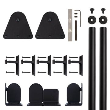 Quiet Glide Triangle Rolling Door Hardware Kit