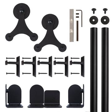 Quiet Glide Tri-Star Rolling Door Hardware Kit