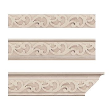Designs of Distinction Baroque Crown Molding Insert