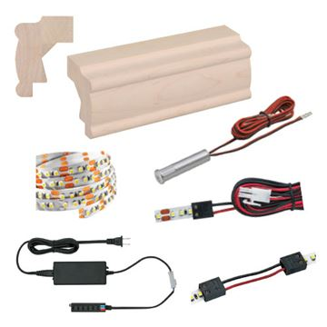 Designs of Distinction Light Ready Light Rail Kit With Beaded Molding
