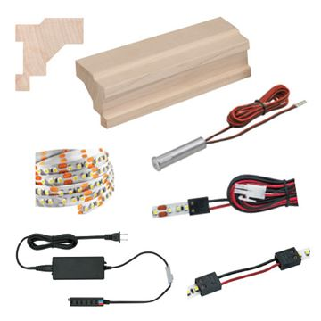 Designs Of Distinction Light Ready Light Rail Kit With Contemporary Molding