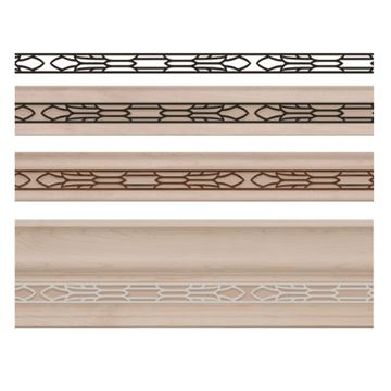 Designs of Distinction Tudor Light Rail Molding Insert