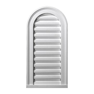 Restorers Architectural 12 Inch Cathedral Top Urethane Functional Gable Vent