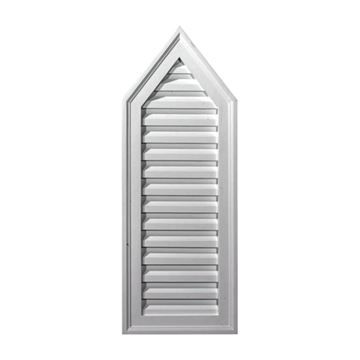 Restorers Architectural 12 Inch Peaked Urethane Decorative Gable Vent