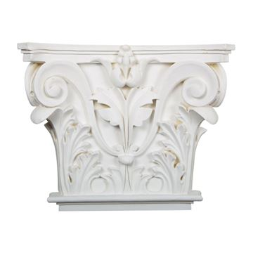Restorers Architectural 13 5/8 Inch Acanthus Urethane Capital for 7/8 Inch Pilaster